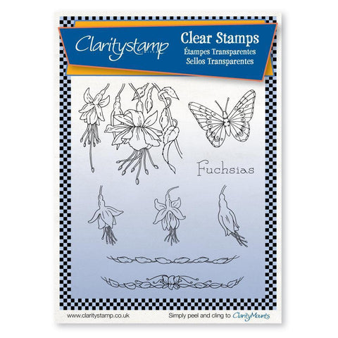 Jayne's Fuchsias <br/>Unmounted Clear Stamp Set
