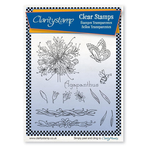 Jayne's Agapanthus <br/>Unmounted Clear Stamp Set