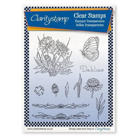 Jayne's Dahlias Unmounted Clear Stamp Set