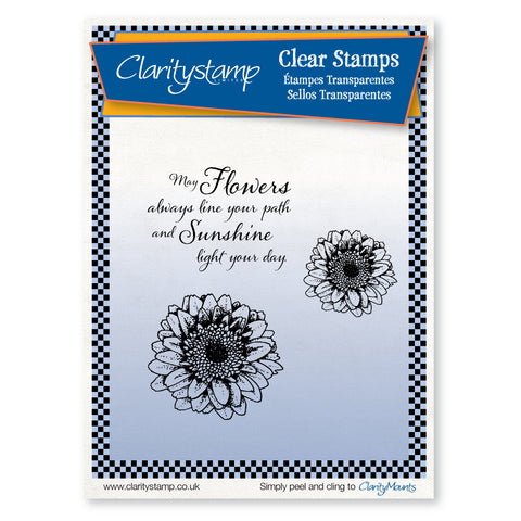 Gerberas <br/>Unmounted Clear Stamp Set