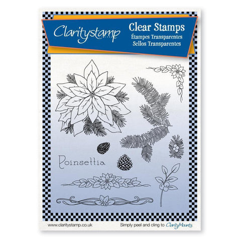Jayne's Poinsettia Unmounted Clear Stamp Set