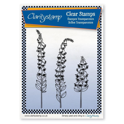 Foxgloves + MASK Unmounted Clear Stamp Set