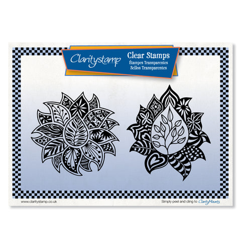 Filigraphy Leaves <br/>Unmounted Clear Stamp Set