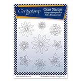 Tina's Flowers 1 + MASK Unmounted Clear Stamp Set