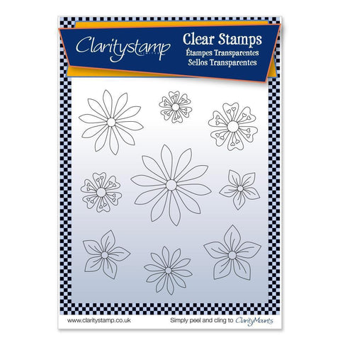 Tina's Flowers 1 + MASK <br/>Unmounted Clear Stamp Set
