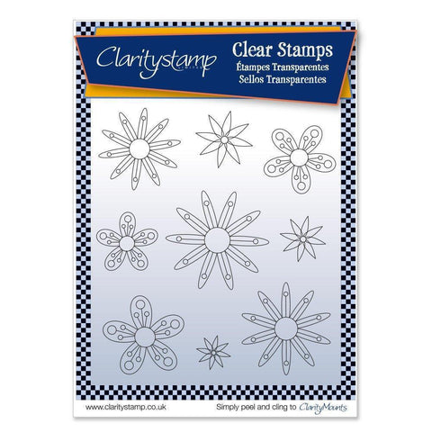 Tina's Flowers 2 + MASK <br/>Unmounted Clear Stamp Set
