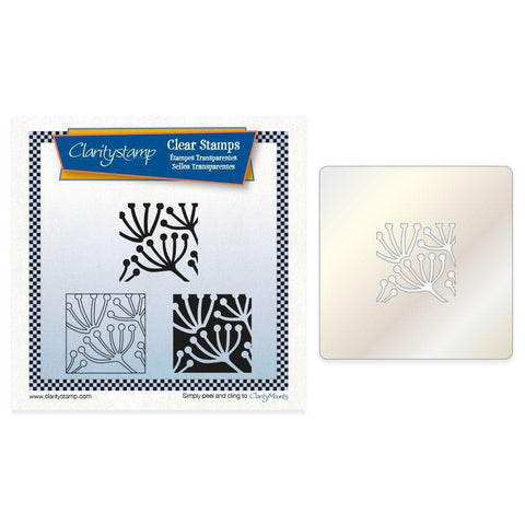 Queen Anne's Lace Tiles + Stencil <br/>Unmounted Clear Stamp Set