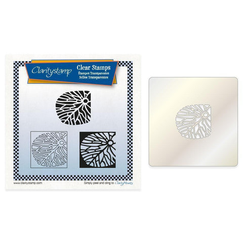 Fossil Petal Tiles + Stencil <br/>Unmounted Clear Stamp Set