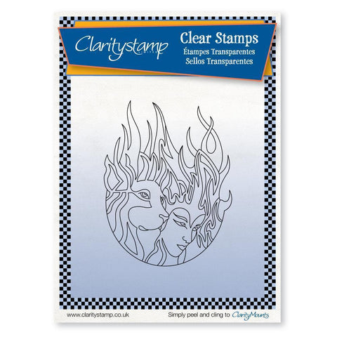Fire Element + MASK <br/>Unmounted Clear Stamp