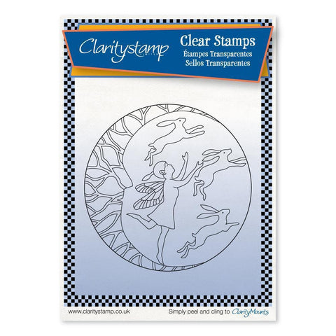 Fairy Night Round - Fine Line + MASK <br/>Unmounted Clear Stamp