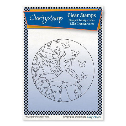 Fairy Daydream Round - Fine Line + MASK <br/>Unmounted Clear Stamp