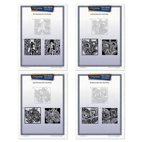 Fairies Three Way Overlay Collection <br/>Unmounted Clear Stamp Sets