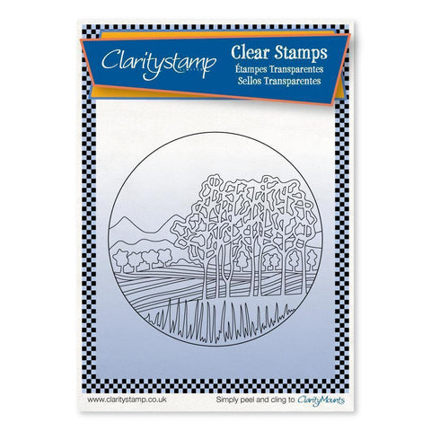Napa Valley Round - Fine Line + MASK Unmounted Clear Stamp