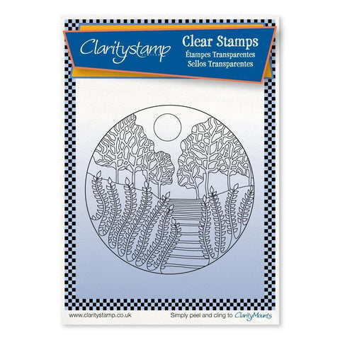 Carmel Round - Fine Line + MASK <br/>Unmounted Clear Stamp