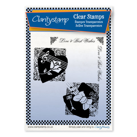 Heart & Hat Montages <br/>Unmounted Clear Stamp Set