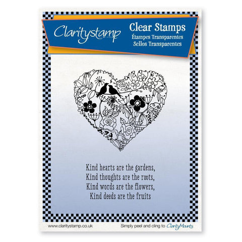 Garden Heart <br/>Unmounted Clear Stamp Set