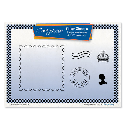 Postage + MASK <br/>Unmounted Clear Stamp Set