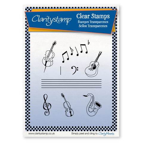 Music + MASK <br/>Unmounted Clear Stamp Set
