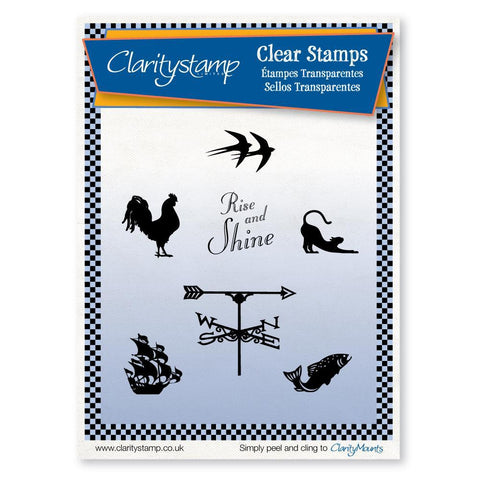 Rise & Shine <br/>Unmounted Clear Stamp Set