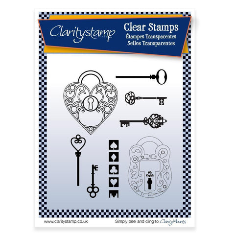 Key to My Heart <br/>Unmounted Clear Stamp Set