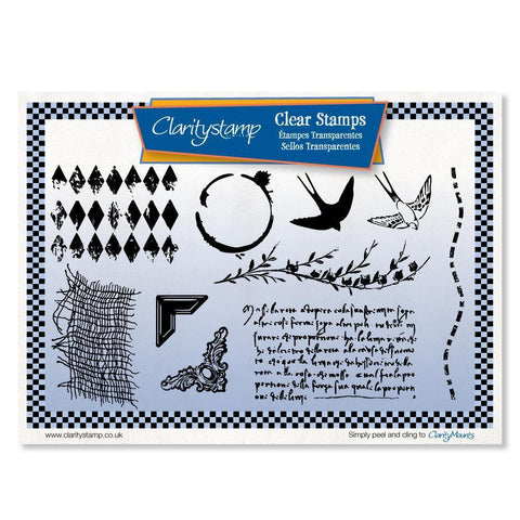 Journaling <br/>Unmounted Clear Stamp Set