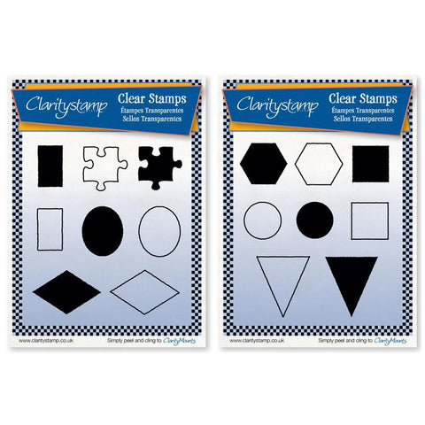 Sam's Shapes 1 & 2 (JORD & CHTS) <br/>Unmounted Clear Stamps