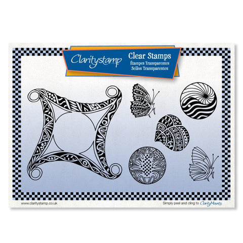 Filigraphy Frame & Shapes <br/>Unmounted Clear Stamp Set