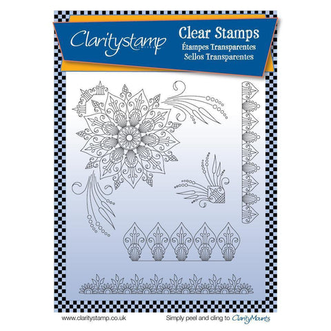 Tina's Henna Corners 1 Unmounted Clear Stamp Set