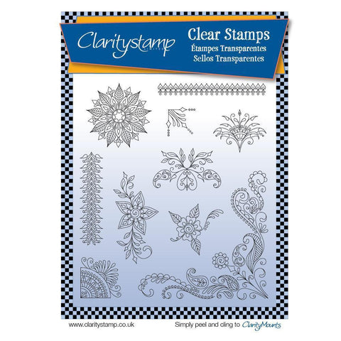 Tina's Henna Corners 2 Unmounted Clear Stamp Set