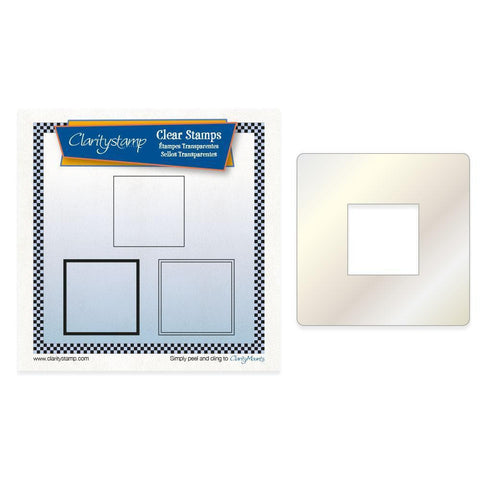 Basic Tiles + Stencil <br/>Unmounted Clear Stamp Set
