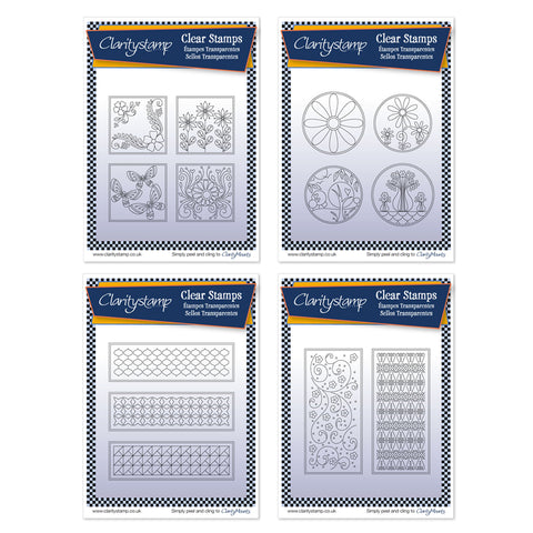 Tina's Layering Collection <br/>Unmounted Clear Stamp Sets <br/>+ FREE Mucha Mounts!