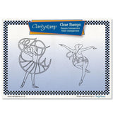 Beauty & Charm Ballerinas + MASKS <br/>Unmounted Clear Stamp Set