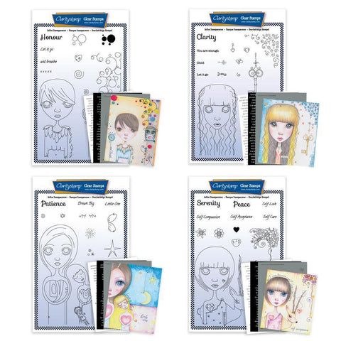 Dee's New Friends Collection <br/>Unmounted Clear Stamp Sets <br/>+ MASKS & 8x Phrase Sheets