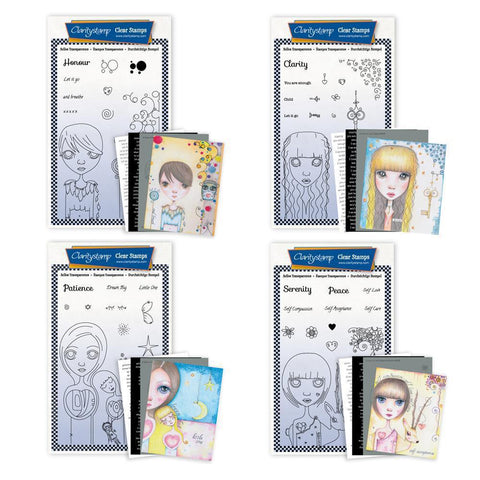 Small Dee's New Friends Collection <br/>Unmounted Clear Stamp Sets <br/>+ MASKS & 8x Phrase Sheets