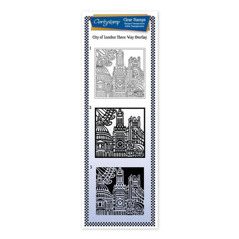City of London - Three Way Overlay <br/>Unmounted Clear Stamp Set