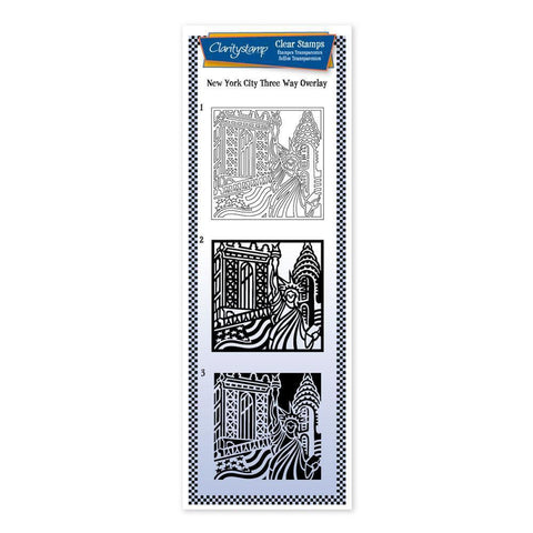 New York City - Three Way Overlay <br/>Unmounted Clear Stamp Set