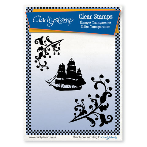 Galleon <br/>Unmounted Clear Stamp Set