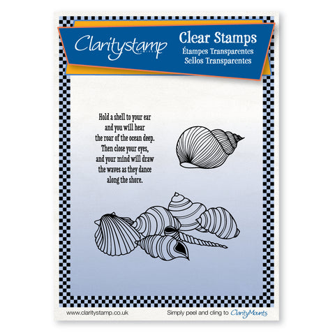 Shell Cluster + MASK <br/>Unmounted Clear Stamp Set