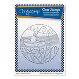 Fisherman Round - Fine Line + MASK <br/>Unmounted Clear Stamp