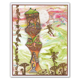 Tree House & Vines + MASK <br/>Unmounted Clear Stamp Set