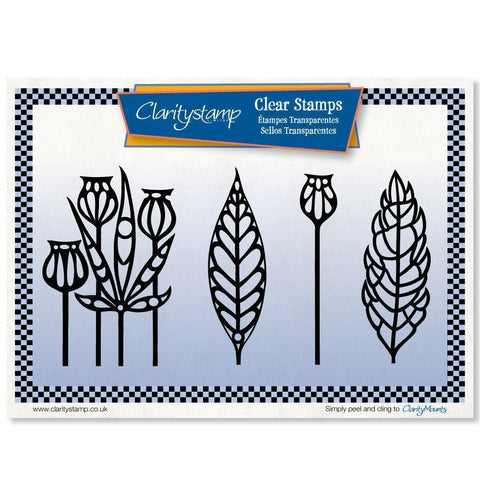 Funky Foliage Unmounted Clear Stamp Set