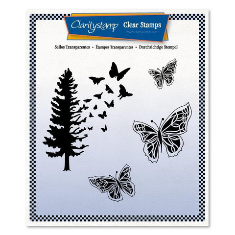 Butterfly Tree Unmounted Clear Stamp Set