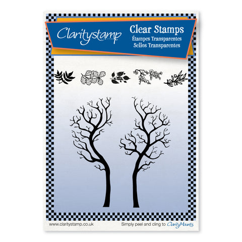 Split Trees <br/>Unmounted Clear Stamp Set