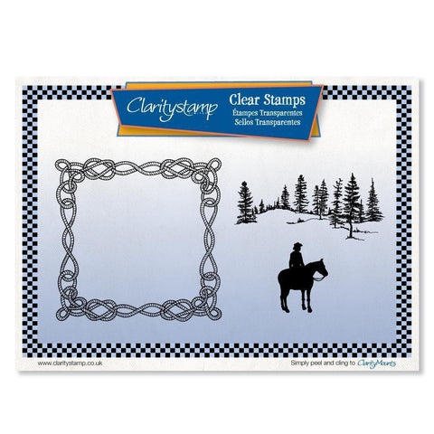 Rope Frame Scene <br/>Unmounted Clear Stamp Set