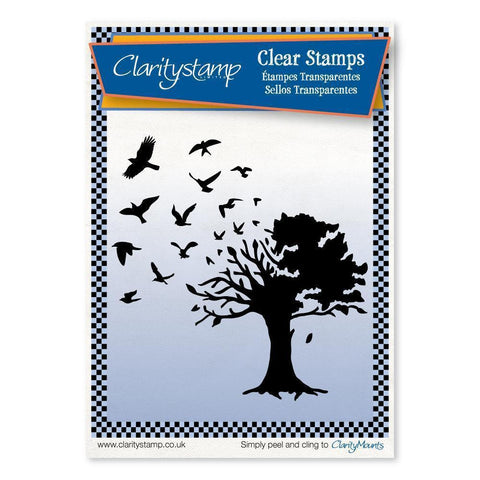 Bird Tree <br/>Unmounted Clear Stamp