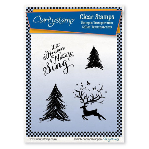 Let Heaven & Nature Sing Unmounted Clear Stamp Set