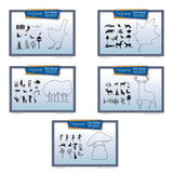 Woodland Outlines Bundle + MASKS <br/>Unmounted Clear Stamp Sets
