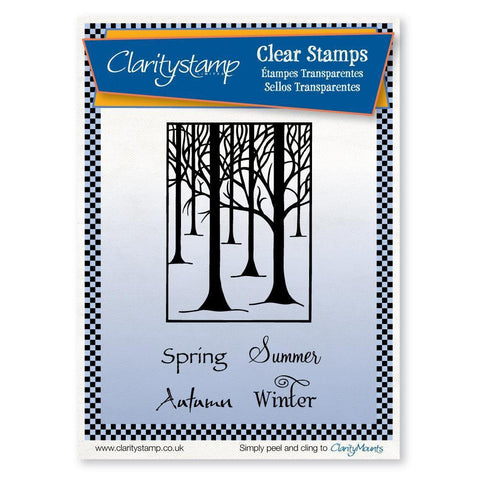 Treescape & Seasons <br/>Unmounted Clear Stamp Set