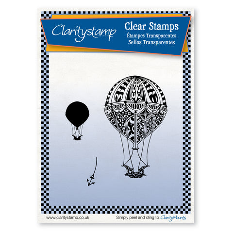 Filigraphy Hot Air Balloons + MASK <br/>Unmounted Clear Stamp Set