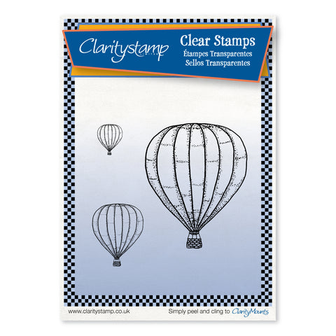 Hot Air Balloons <br/>Unmounted Clear Stamp Set